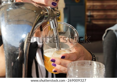 Italian craft beer production - stock photo