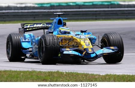 Italian Formula One driver Giancarlo Fisichella of Mild Seven Renault Team, 2006 - stock photo