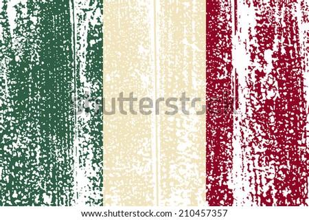 Italian grunge flag.  - stock photo