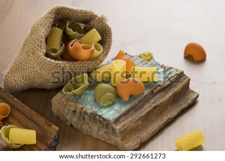 Italian Macaroni Pasta raw food - stock photo