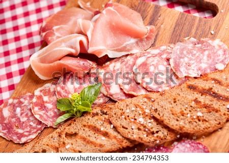 Italian meat - stock photo
