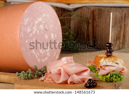 Italian mortadella   - stock photo