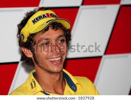 Italian MotoGP rider Valentino Rossi - stock photo