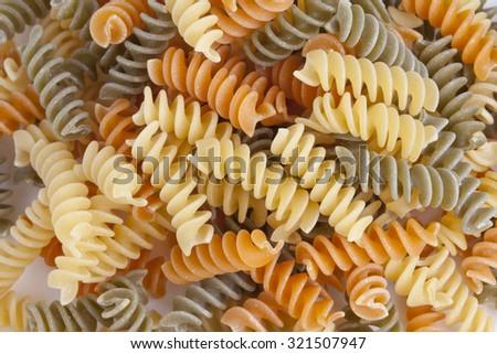 italian pasta, background - stock photo