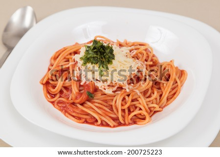 Italian pasta spaghetti - stock photo