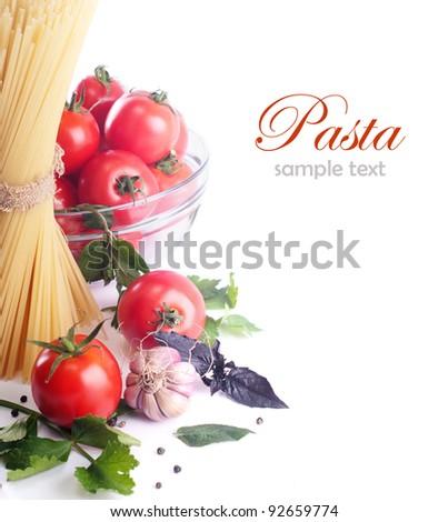Italian Pasta with tomatoes - stock photo