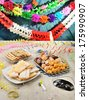 Italian pastries for the carnival festivities - stock photo