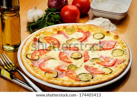 italian pizza - stock photo