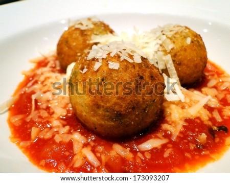 Italian Rice balls - stock photo