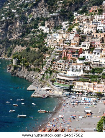 Italian riviera - stock photo
