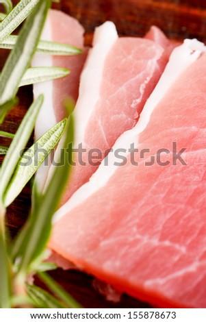 italian speck - stock photo