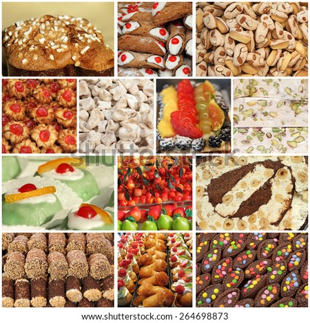italian sweets images - stock photo