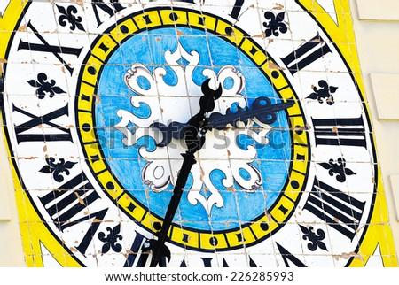 Italian time piece found on the island of Capri - stock photo