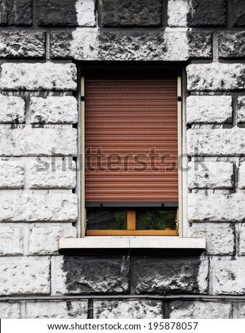 Italian windows, Trieste, Italy  - stock photo