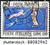 ITALY - CIRCA 1965: A stamp printed in Italy shows Dante Alighieri, circa 1965 - stock photo