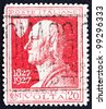 ITALY - CIRCA 1927: A stamp printed in the Italy shows Count Alessandro Volta, Physicist, Invention of Electric Cell, Battery, circa 1927 - stock photo