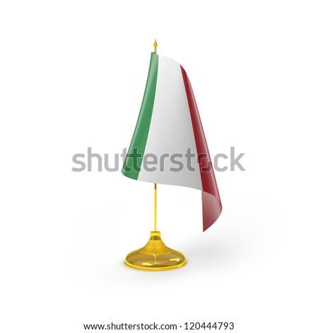 Italy Flag Detail Render - stock photo