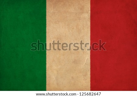 Italy flag drawing ,grunge and retro flag series - stock photo