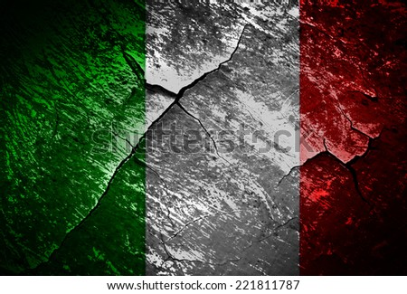 Italy flag  grunge textures and backgrounds - stock photo