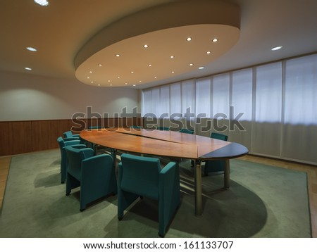 Italy, office business meeting room - stock photo