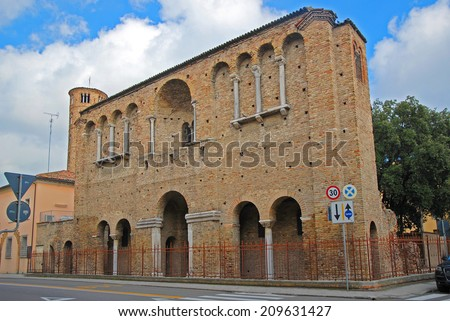 Italy, Ravenna, King Theodoric palace facade. - stock photo