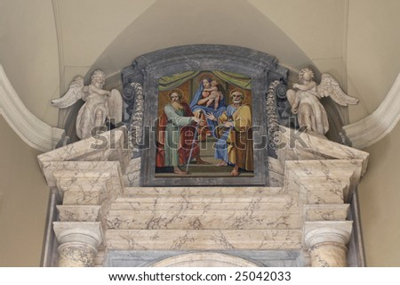 Italy, Roma. Icon at an input on territory of Vatican - stock photo