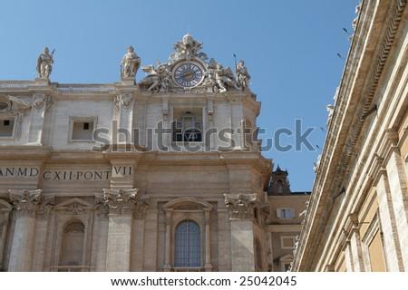 Italy, Roma, Vatican. Saint Peter's Basilica - stock photo