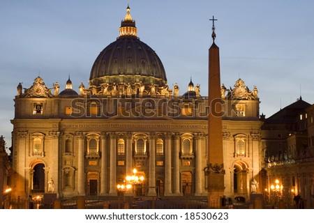 Italy Rome Vatican Saint Peters Basilica - stock photo