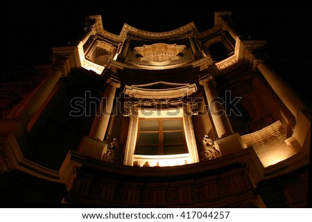 Italy, Sicily, Noto Unesco night - stock photo