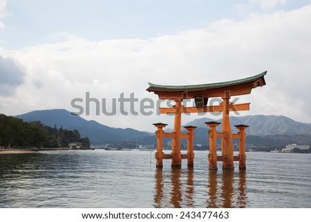 itsukushima shrine - stock photo