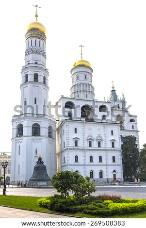 Ivan the Great bell tower, Moscow Kremlin, Russia - stock photo