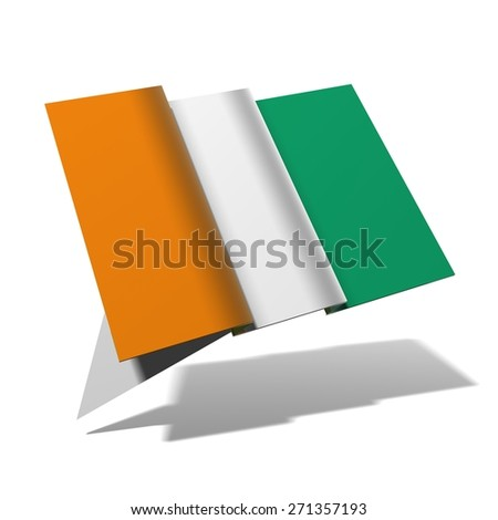 Ivorian Coast flag 3D banner - stock photo
