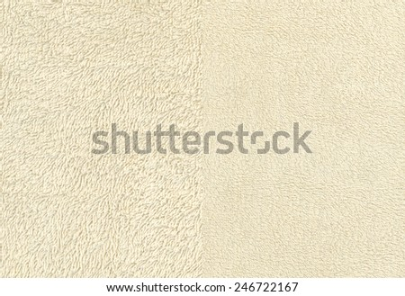 Ivory Terry Cloth Towel Fabric - stock photo