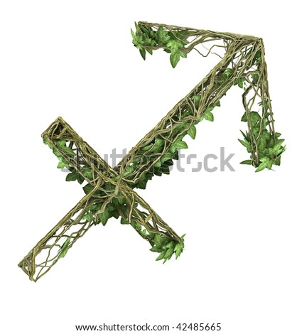 Ivy nature signs of the zodiac Centaur The Archer - stock photo
