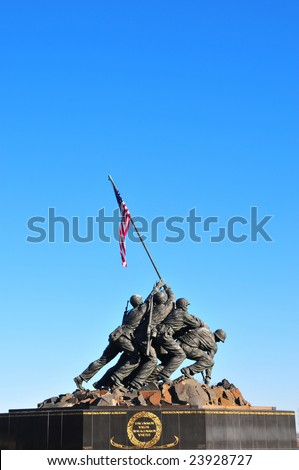 Iwo Jima Memorial statue near Washington DC - stock photo