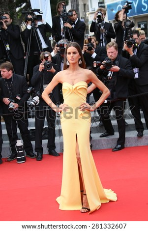 Izabel Goulart attends the closing ceremony during the 68th annual Cannes Film Festival on May 24, 2015 in Cannes, France. - stock photo