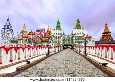 Izmailovsky Kremlin, Moscow, Russia - stock photo
