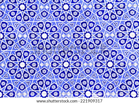 IZMIR, TURKEY - JULY 31 : Turkish artistic wall tile at the Fatih Mosque on July 31, 2014 in Izmir. impressive ancient Handmade Turkish Tiles. - stock photo