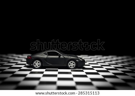 Izmir, Turkey - 1 June, 2015: Porsche cayman s toy model car product shot. - stock photo