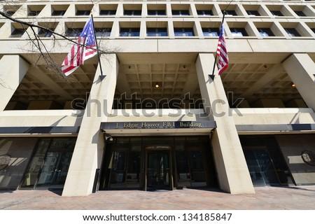 J. Edgar Hoover FBI Building on Pennsylvania Avenue, Washington DC, United States - stock photo