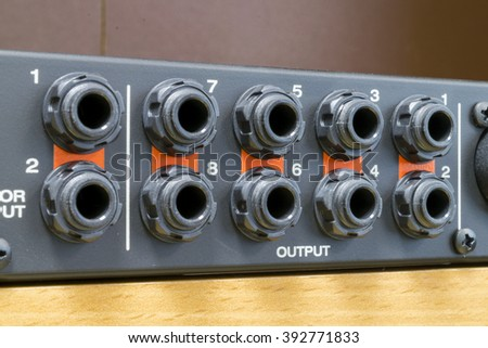 jack connectors - stock photo