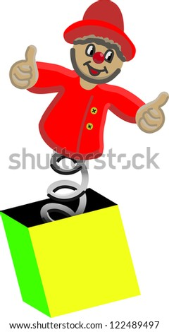Jack-in-the-box - stock photo