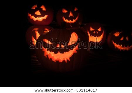 Jack O'lanterns - stock photo