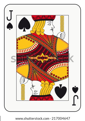 Jack of spades playing card - stock photo