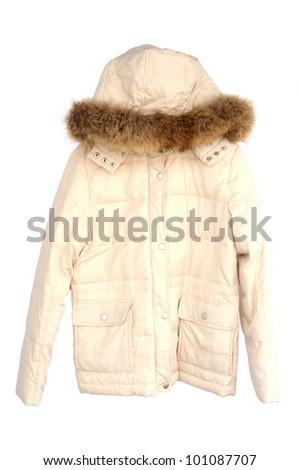 Jacket isolated on white background, selective focus. - stock photo