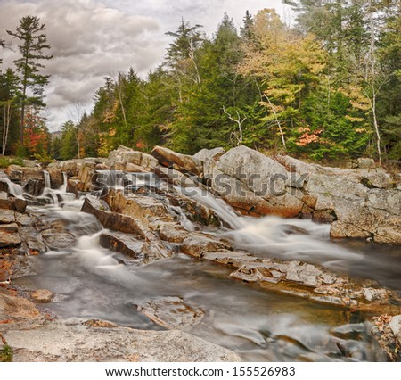 Jackson Falls New Hampshire. - stock photo