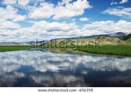 Jackson Hole, Wyoming scenic - stock photo
