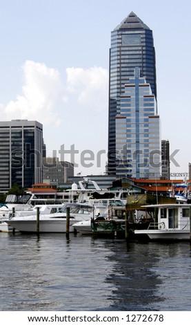 Jacksonville,Florida on the river - stock photo