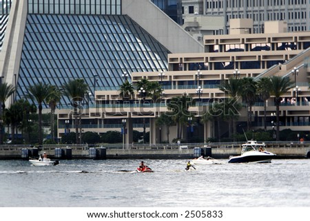 Jacksonville on the river - stock photo