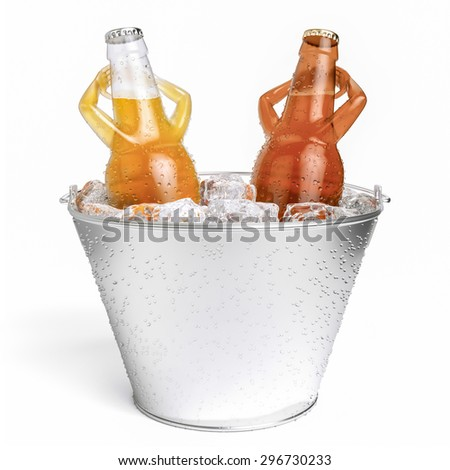 jacuzzi beer-letterless - stock photo